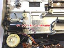 テクニクス SL-10 レコードプレーヤー修理 台東区 H様 【ギア、プーリー、ワイヤー周り、レール周り清掃後】