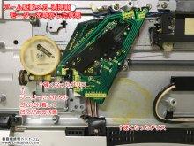 SL-QL1 修理 Technics レコードプレーヤー 埼玉県 H様 【アーム駆動メカ 清掃前 モーターを取外した状態】